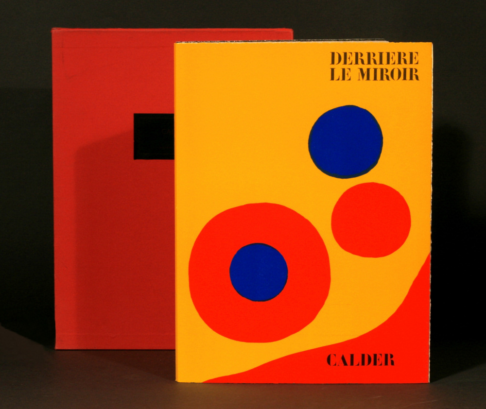 Alexander calder signed first edition with original for Derrier le miroir