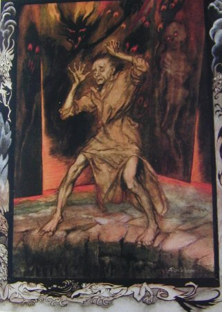 Poe Tales of Mystery and Imagination, signé par l'illustrateur Arthur Rackham