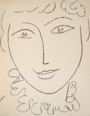 Henri Matisse: original lithograph from Portraits